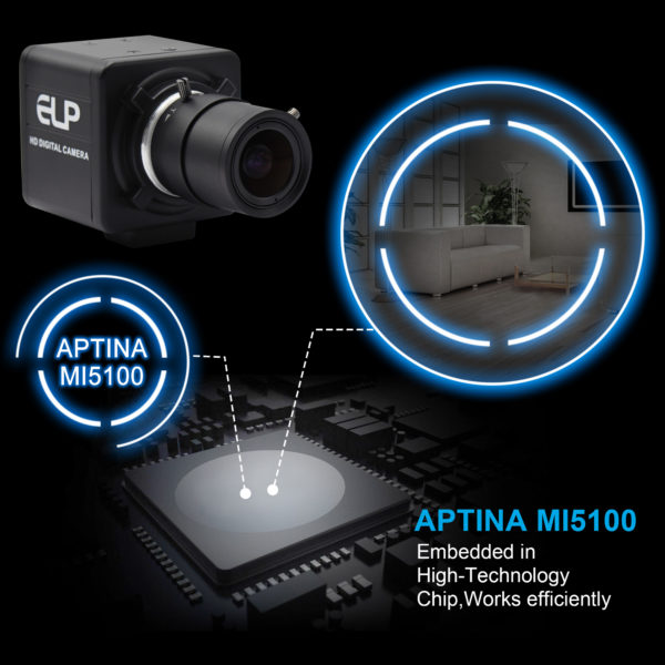 5mp Aptina usb camera