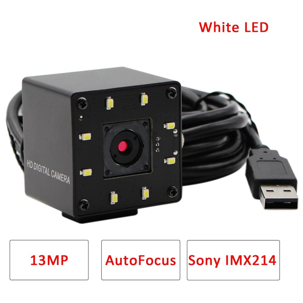 white led 13mp usb camera