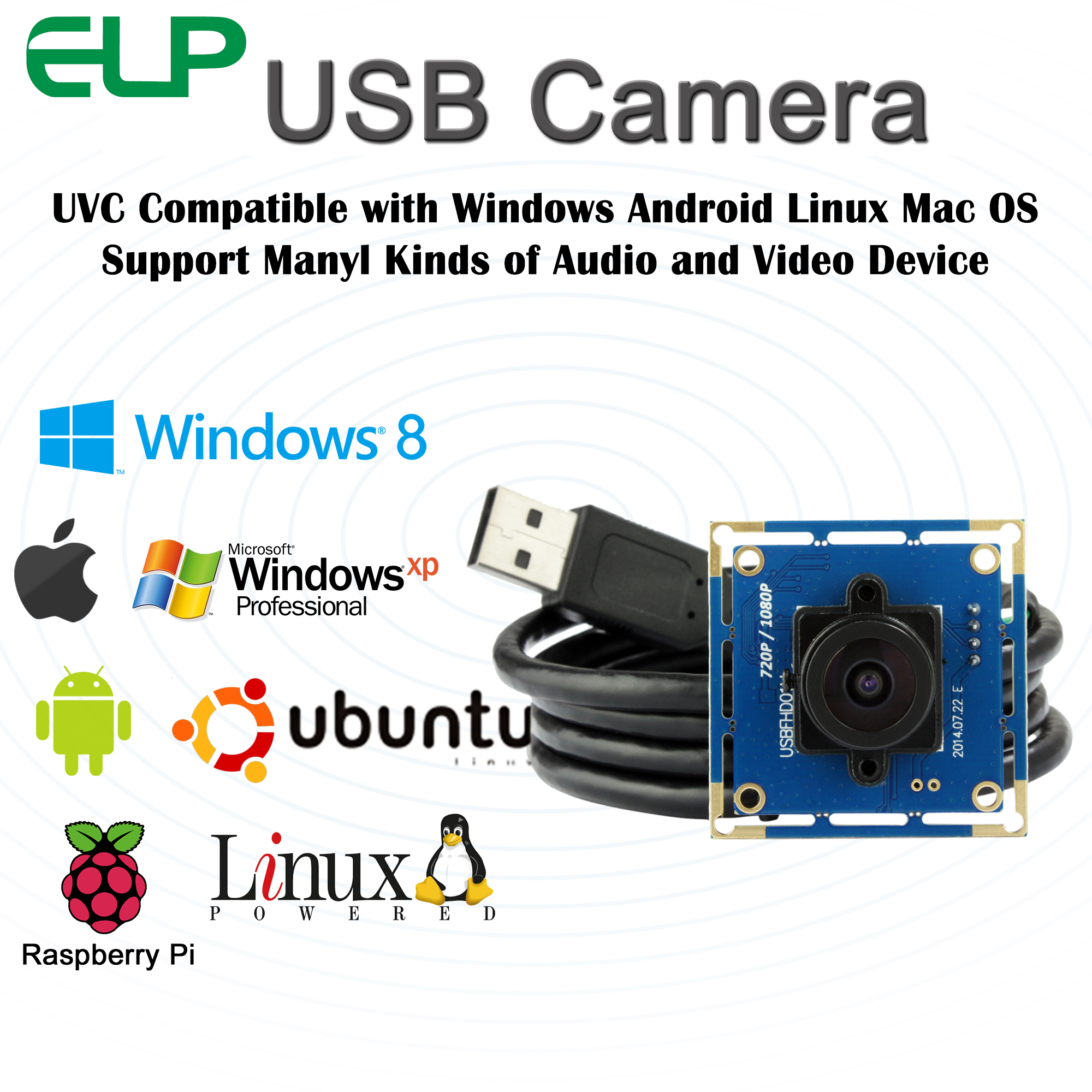 1080p Full Hd USB Camera Module,2 Megapixel Free Driver High